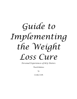 Guide for Implementing The Weight Loss Cure - bon sain