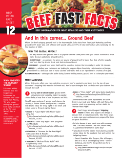 And in this corner… Ground Beef - Beef Retail