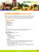 SUPER CLEANSE DAILY PLAN - NutriLiving