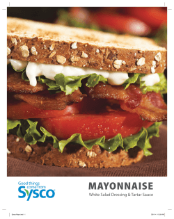 mayonnaise - Sysco ChefRef Foodie
