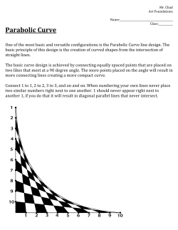 Parabolic Curve Worksheet - Mr. Chads IB Art Room