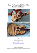 Guitar For American Girl Size Dolls Free Crochet Pattern - Donnas