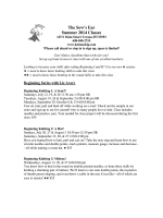 Download Summer Class Schedule - The Sows Ear