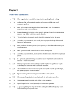 Chapter 9 True-False Questions