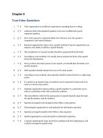 Chapter 9 True-False Questions