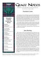 Grace Notes - Memphis Scottish Society