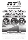 2012 WINTER WHEEL FITMENT GUIDE - Regional Tire Distributors