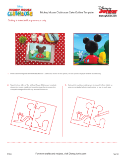 Mickey Mouse Clubhouse Cake Outline Template