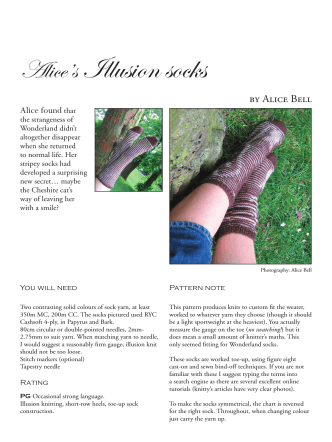 Alices Illusion socks - Purlescence