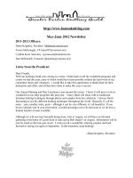 May-June Newsletter - Greater Boston Knitting Guild