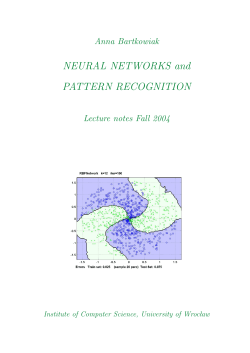 NEURAL NETWORKS and PATTERN RECOGNITION
