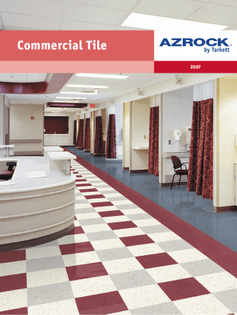 Azrock Commercial Tile catalog Reed First Source
