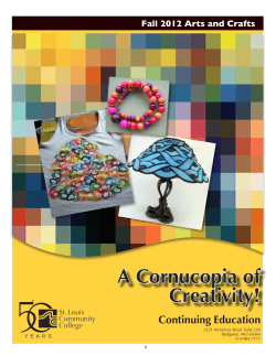 A Cornucopia of Creativity! - Welcome