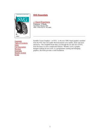 1 SVG Essentials J. David Eisenberg