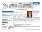 December 2013 - Common Thread Quilt Guild