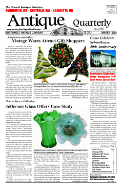 Vintage Wares Attract Gift Shoppers Jefferson Glass Offers Case Study