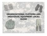 FRA OCIE GUIDE - U.S. Army