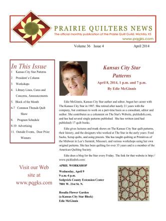 April 2014 - Prairie Quilt Guild