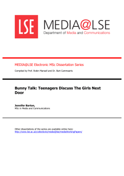 Bunny Talk: Teenagers Discuss The Girls Next Door