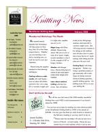 Knitting News 2- Feb 08 - Westchester Knitting Guild