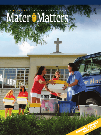 AnnuAl RepoRt 2011-2012 - Merion-Mercy Academy