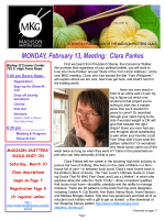 Knitters Knews January 2009 - Madison Knitters Guild