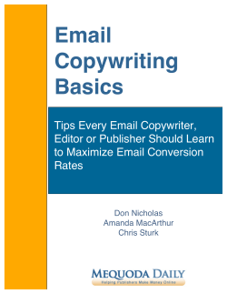 Email Copywriting Basics - Publishers Australia