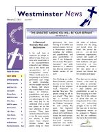 2013 Newsletter FEBRUARY 27 - Westminster Presbyterian Church