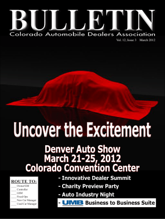 Denver Auto Show March 21-25, 2012 Colorado Convention Center