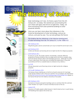 The History of Solar - Office of Energy Efficiency Renewable Energy