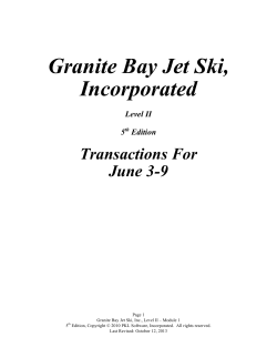 Granite Bay Jet Ski, Incorporated - PKL Software
