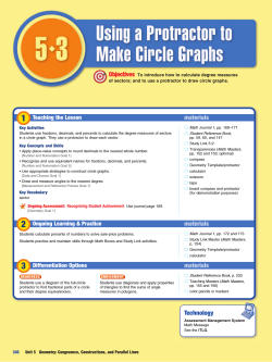 Lesson 5.3 Using a Protractor to Make Circle Graphs