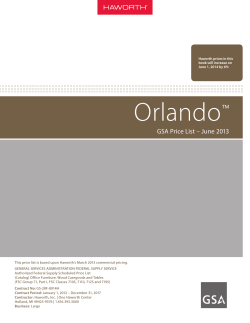 Orlando GSA Price List - Haworth