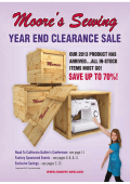 YEAR END CLEARANCE SALE - Moores Sewing Centers