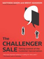 The Challenger Sale Forward Neil Rackham - MultiVu