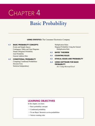 CHAPTER 4 Basic Probability