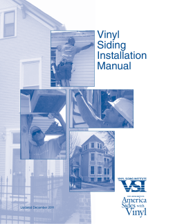 Vinyl Siding Installation Manual - ProVia