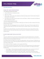 Ultra Mobile FAQs