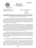 for immediate release contact - Queens County District Attorney