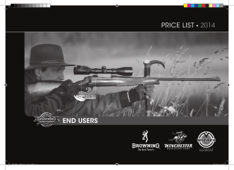 2014 PRICE LIST END USERS - Browning