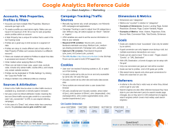 Google Analytics Reference Guide