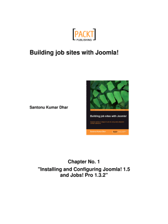 Building Job Sites With Joomla! Chapter No. 1 - Packt Publishing