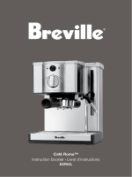 Café Roma™ Instruction Booklet Livret dinstructions - Breville