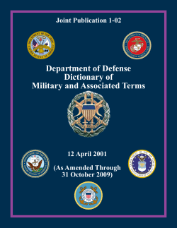 Department of Defense Dictionary of Military and Associated Terms