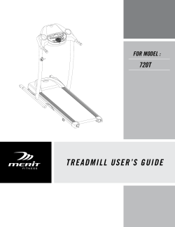 TREADMILL USERS GUIDE - Merit Fitness