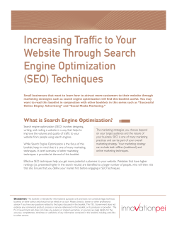 Increasing Traffic to Your Website Through Search Engine