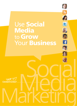 Use Social Media to Grow Your Business - Constant Contact