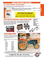 2013 Kubota Tractor Parts Catalog