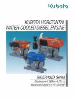 KUBOTA HORIZONTAL - Diesel Pump