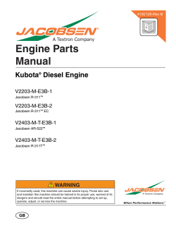 Engine Parts Manual - Jacobsen